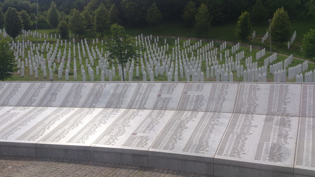 Cemetery for the Srebrencia genocide.
